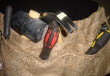 DIY ζώνη εργαλείων με λινάτσα