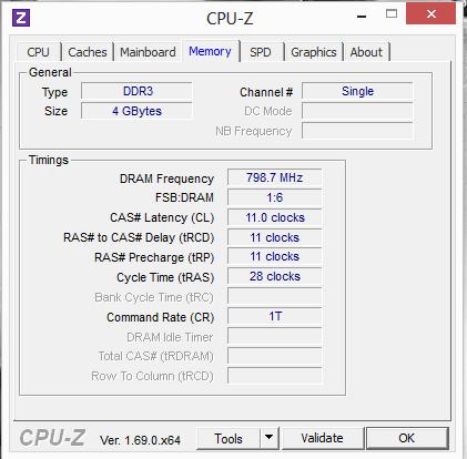 CPU-Z : Memory 2