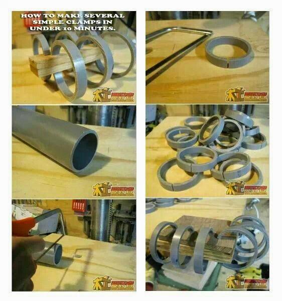 DIY σφιγκτήρες από σωλήνες PVC