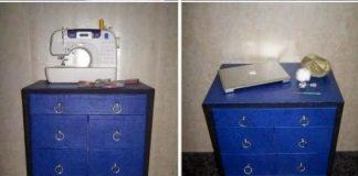 DIY συρταριέρα από χαρτόνι