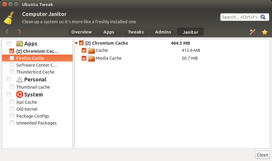 πως καθαρίζουμε το ιστορικό με το ubuntu tweak