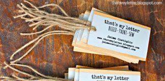 επαγγελματικές κάρτες από ξύλο