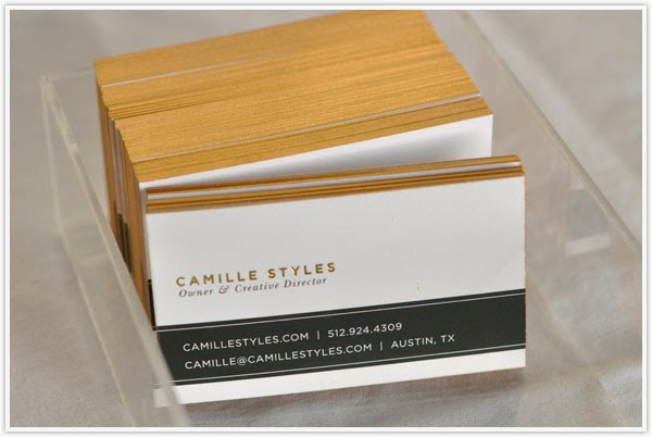 DIY επίχρυσες επαγγελματικές κάρτες