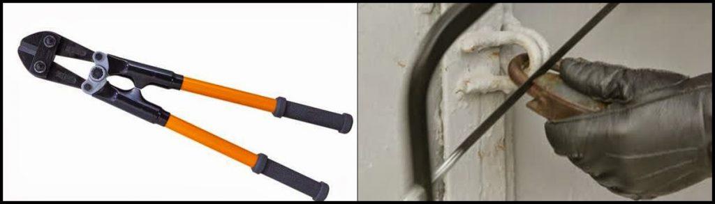 Κόφτης μπετού και σιδεροπρίονο, οι δύο πιο απλές μέθοδοι να κόψετε ένα κρίκο λουκέτου