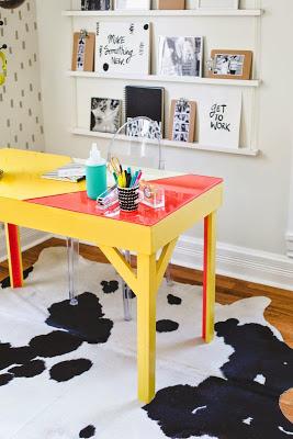 Τραπέζι με εποξική ρητίνη με χρώμα