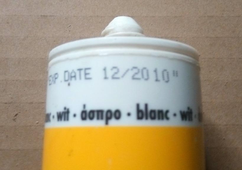Ημερομηνία λήξης σε σωληνάριο σιλικόνης