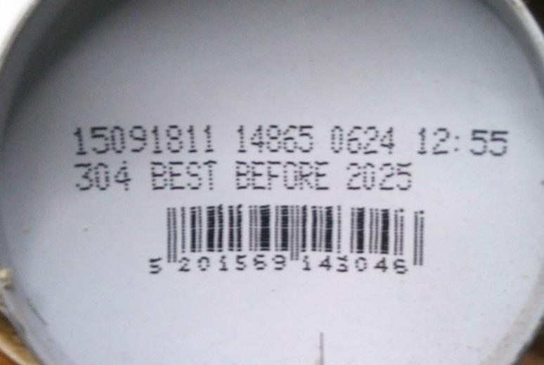 Ημερομηνία λήξης πάνω σε σπρέι