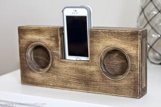 ξύλινα ηχεία για το κινητό