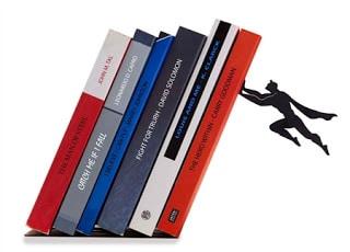 Μεταλλικά στηρίγματα βιβλίων με σούπερ ήρωες