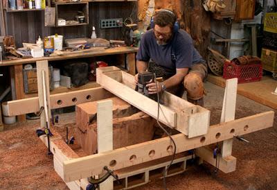 πλανισμα κομματιών ξύλου με ρούτερ