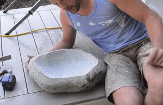 DIΥ νεροχύτης από πέτρα γρανίτη
