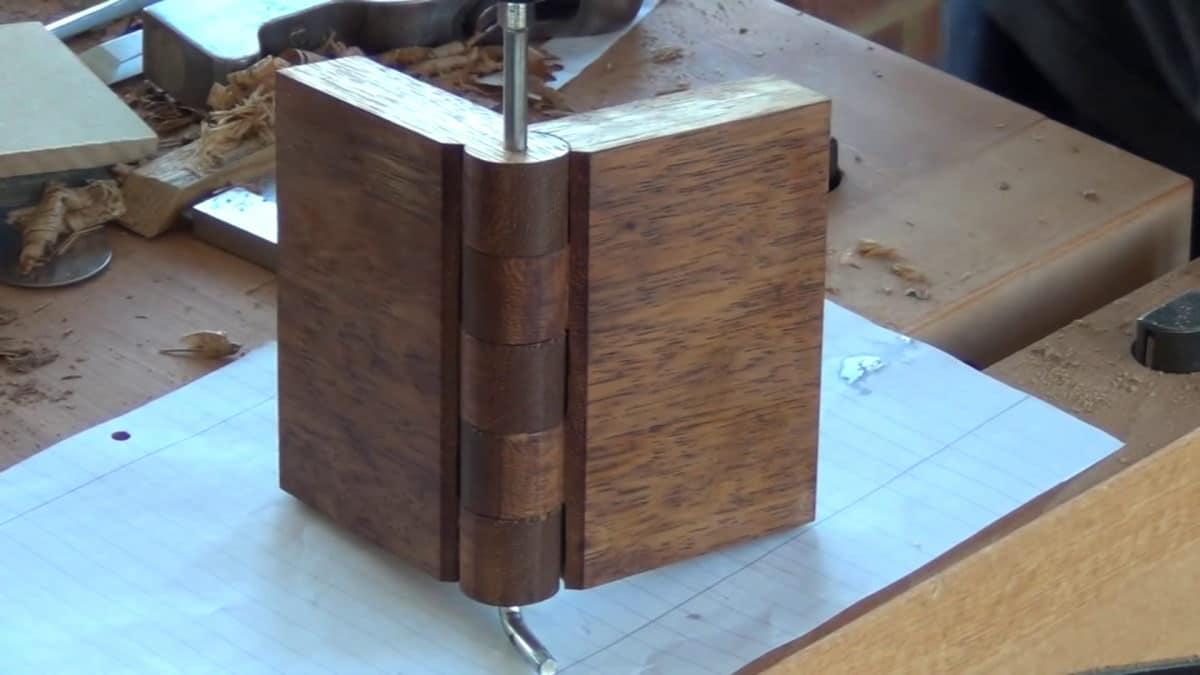 diy ξύλινος μεντεσές
