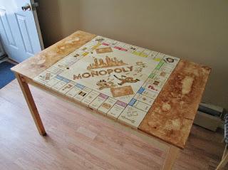 DIY βάση για monopoly πάνω σε ξύλινο τραπέζι