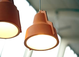 δερμάτινο φωτιστικό οροφής