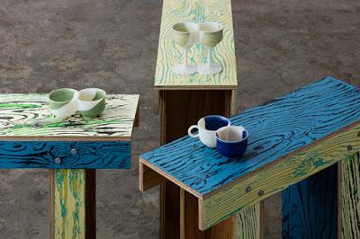νερά σε ξύλο με μία Γιαπωνέζικη τεχνική