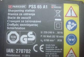 σταθμός ακονίσματος Parkside PSS 65 A1