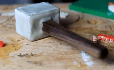 DIY τσιμεντένιο σφυρί