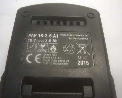 μπαταρία 2.6 ah για γωνιακό τροχό parkside