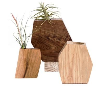 ξύλινα γλαστράκια για παχύφυτα