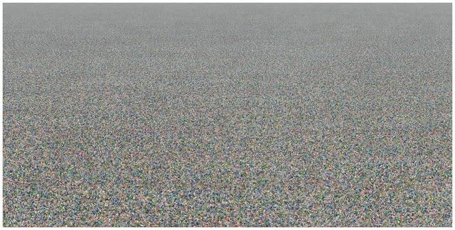 χιλιάδες πλαστικά μπουκάλια επιπλέουν στον ωκεανό