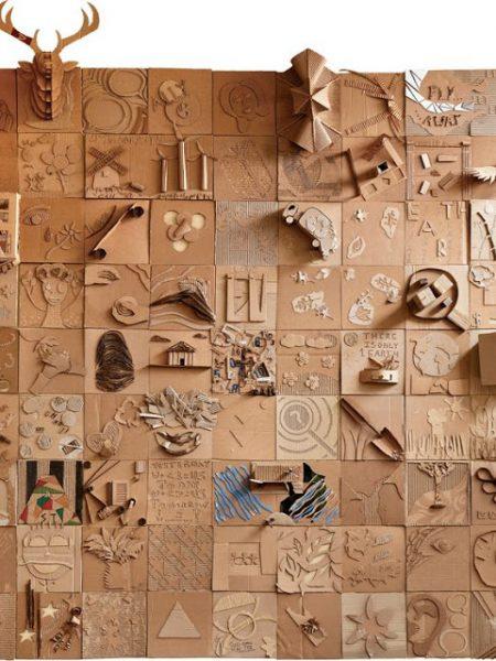 έργα τέχνης από χαρτόνι