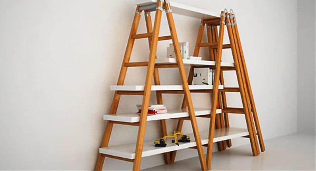 Κλασσική βιβλιοθήκη με σκάλες από την ΙΚΕΑ