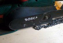 Καθαρισμός και συντήρηση σε ηλεκτρικό αλυσοπρίονο Bosch