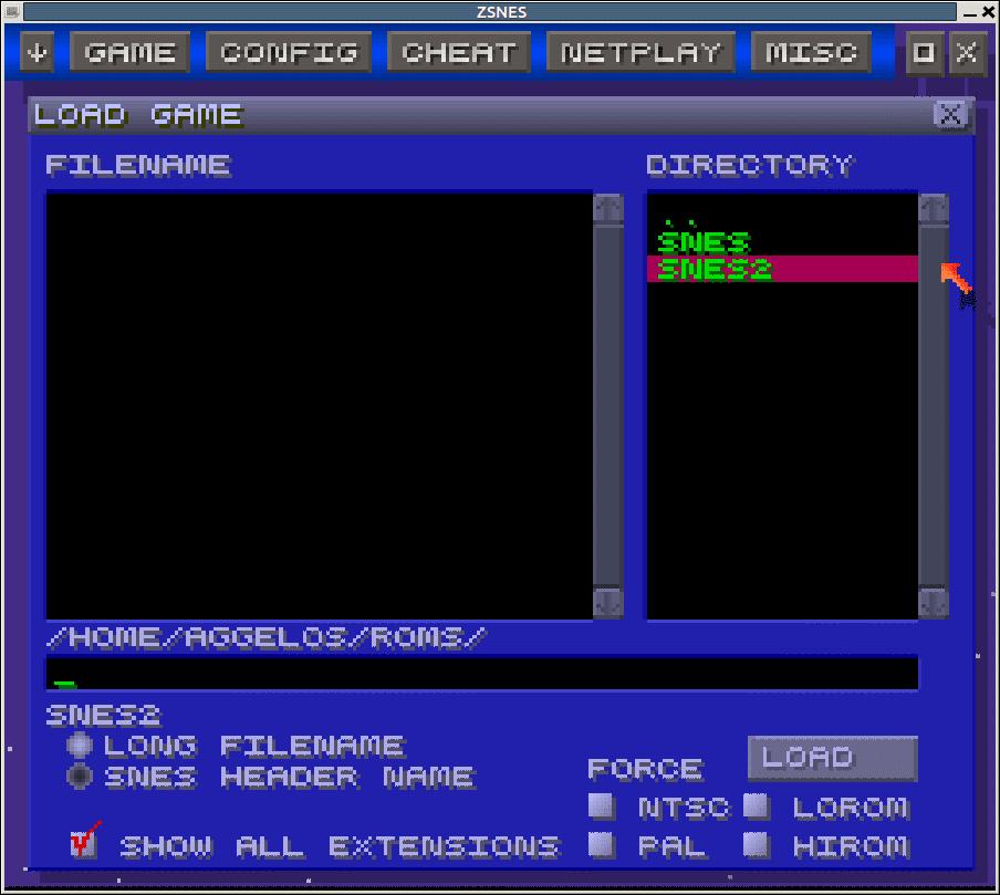 ZSNES emulator για SNES