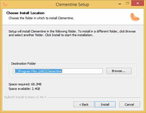 Εγκατάσταση Clementine σε Win 8.1