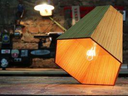 DIY ξύλινο εξάγωνο φωτιστικό