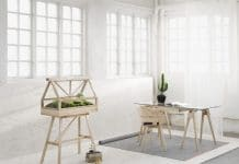 ξύλινο terrarium σε σχήμα θερμοκηπίου