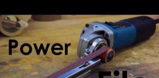 Εξάρτημα μετατρέπει γωνιακό τροχό, σε ταινιολειαντήρα τύπου λίμα