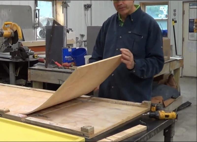 DIY κυρτό τσιμεντένιο τραπέζι