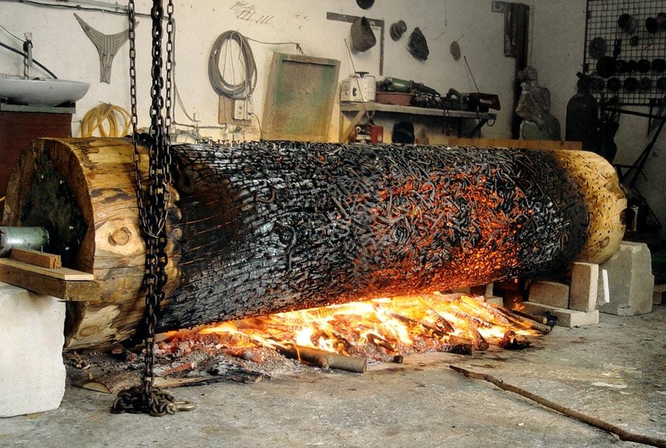 τεχνική καρβουνιάσματος κορμού