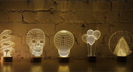 3D φωτιστικά που θυμίζουν ολόγραμμα