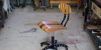DIY Industrial Καρέκλα γραφείου