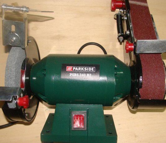 Τροχός πάγκου με ταινιολειαντήρα Parkside PSBS 240 C2