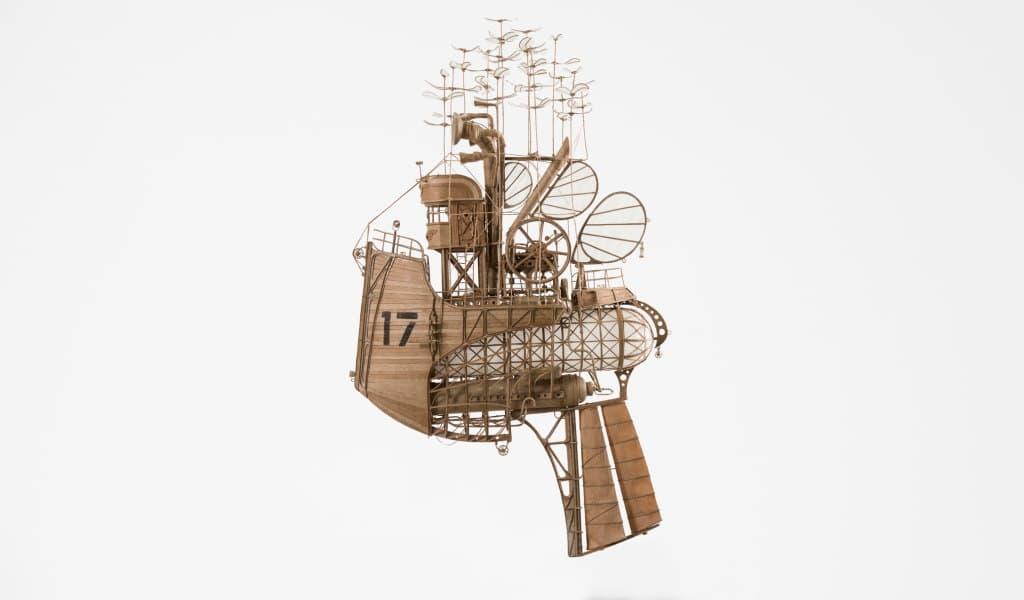 steampunk αερόπλοια από χαρτόνι