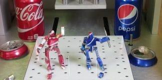 τενεκεδένια robot από κουτάκια αναψυκτικών