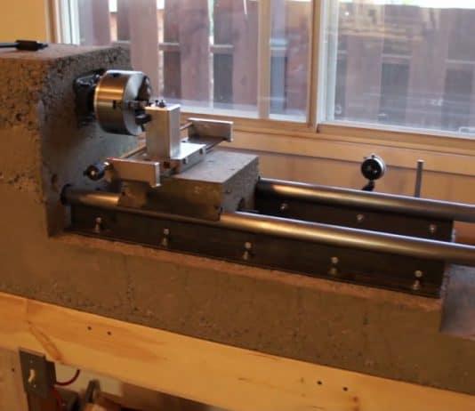 DIY τόρνος μετάλλου από τσιμέντο