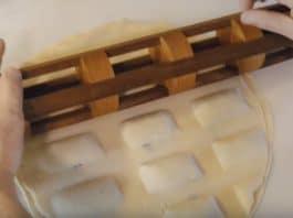 DIY ξύλινος πλάστης για ραβιόλια