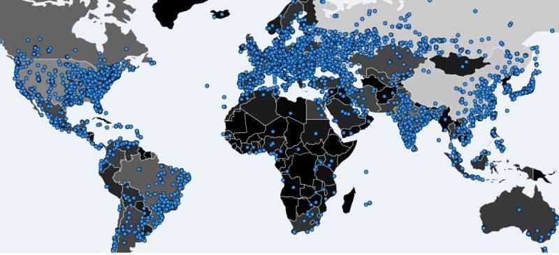 Παγκόσμιος χάρτης έκθεσης στο WNNCRY