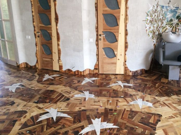 ξύλινο πάτωμα μωσαϊκό