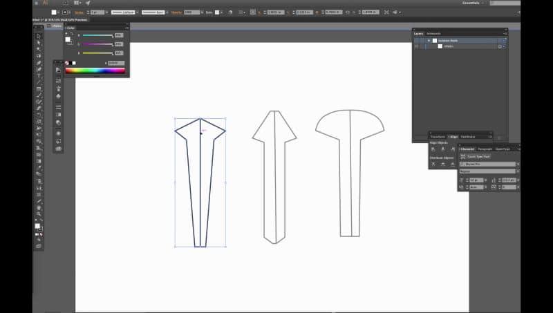 σχεδίαση σε illustrator