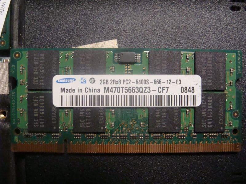 μνήμη ram σε Laptop
