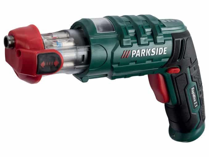 επαναφορτιζόμενο κατσαβίδι parkside rapidfire 2.1