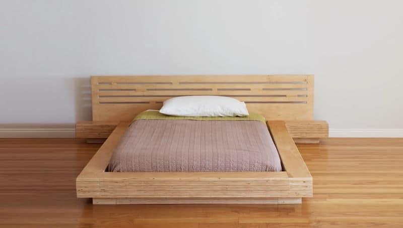 diy μοντέρνο κρεβάτι από κόντρα πλακέ