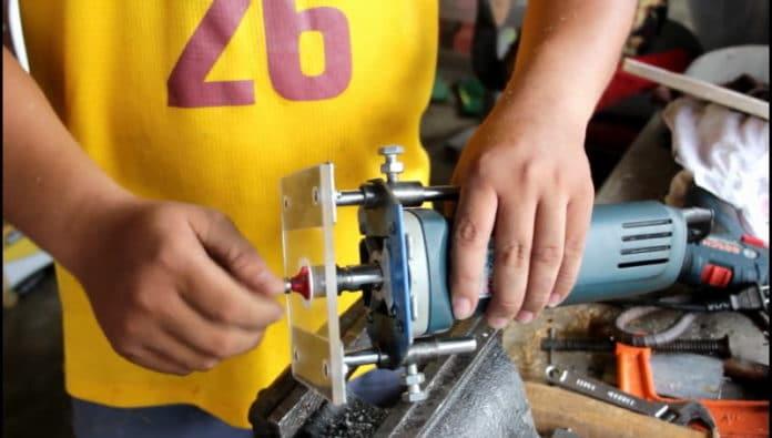 diy ρούτερ ξύλου από γωνιακό τροχό