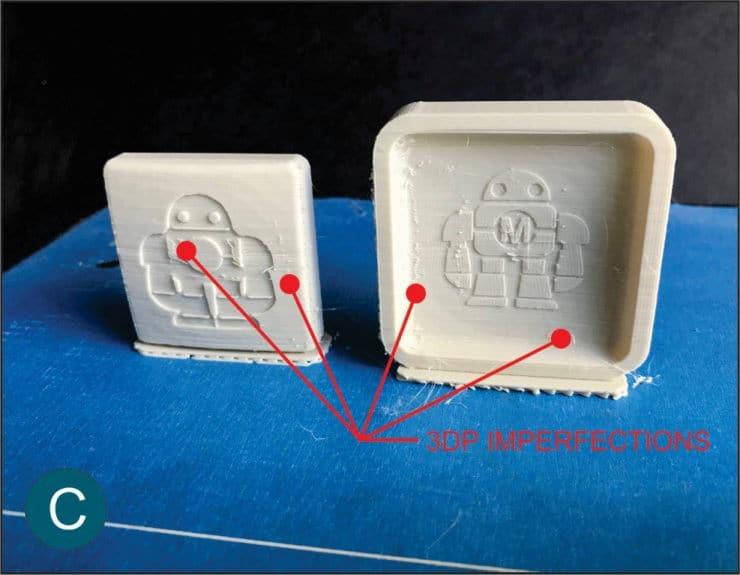 ατέλειες από 3D εκτύπωση