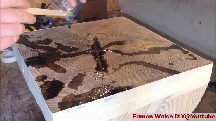 εποξική ρητίνη σε ξύλο